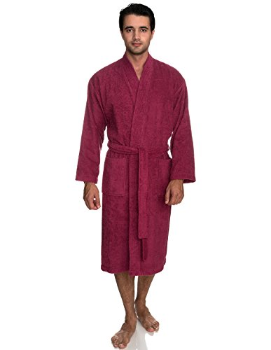 TowelSelections Men's Robe, Turkish Cotton Terry Kimono Bathrobe Large/X-Large Malaga