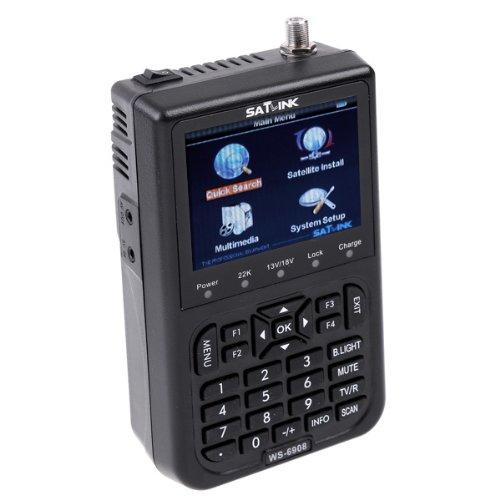 "BestSelect SATlink WS-6908 3.5"" DVB-S FTA Professional Digital Satellite Signal Finder Meter Skybox Openbox Azamerica Azbox Bravissim"