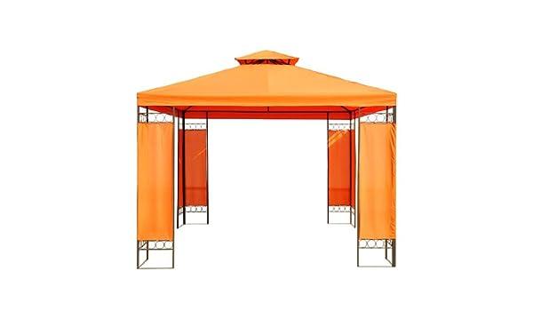 Outsunny Carpa 3x3m Estructura Metal Gazebo Cenador 9m2 Posibilidad Techos de Reemplazo: Amazon.es: Hogar
