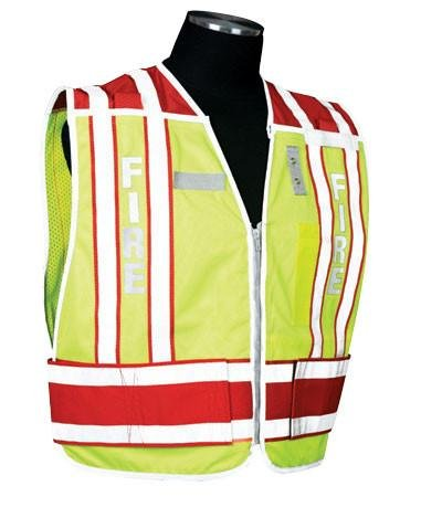 (400 PSV Pro Series Public Safety Vest, Type: Fire - Red, Size: 2X-large - 4X-large, Lettering: No)