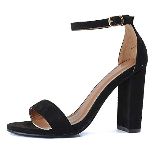 Guilty Shoes - Shirley-1 Black Suede, 8.5
