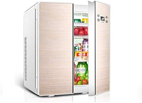 カー冷蔵庫クーラー、25Lカー冷蔵庫のドアダブルカー冷蔵庫冷凍庫デュアル目的12V / 220Vのポータブルクーラーとヒーターコンプレッサーボックス