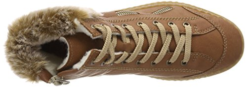 ladies Brown Rieker lined boots 5 41 UK BROWN EU 7 qftw6Ad