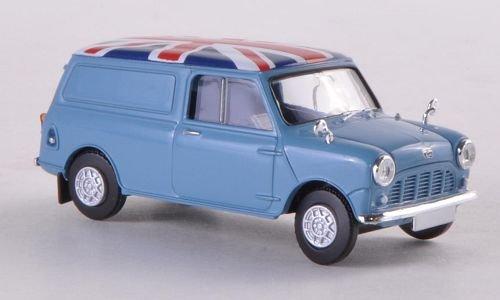 Modellauto hellblau//Dekor Fertigmodell Brekina 1:87 Austin Mini Van