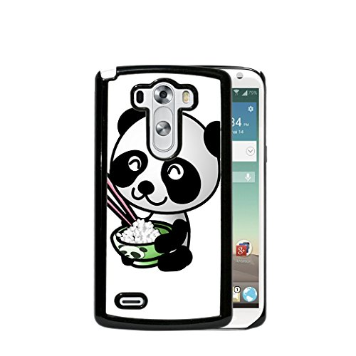 - Cute Black And White Baby Panda With Rice Bowl (1st Generation) LG G3 Hard Plastic Phone Case