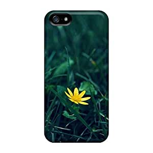 Beautiful Blue Flower Diy For Touch 5 Case Cover Black Cover