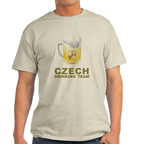CafePress Czech Drinking Team Light T-Shirt - 100% Cotton T-Shirt (T-shirt Team Light Drinking)