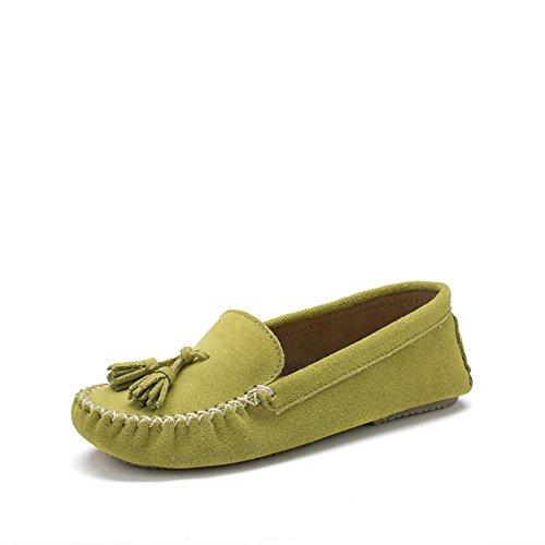 Zapatos Mujer Primavera/Guisantes en un casual zapatos planos/Borla color sólido zapatos de conducción A