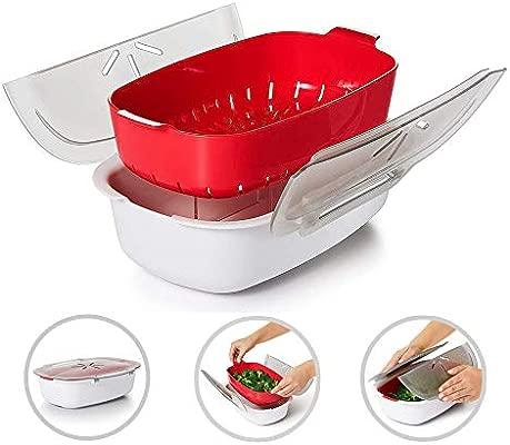 Hamkaw Vaporizador para microondas, Horno de microondas y Verduras ...