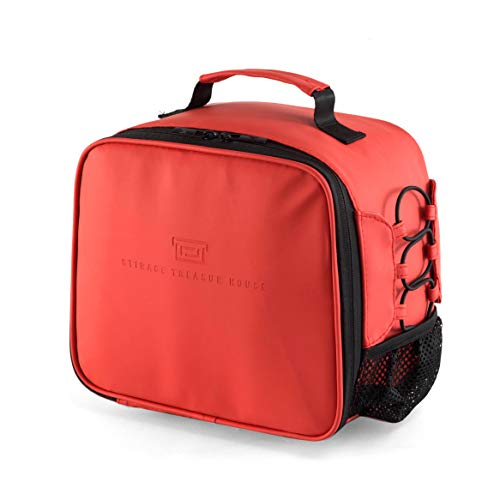Insulated Lunch Bag for Men Women, Leakproof Thermal Reusable Lunch Box for Adult Kids, Lunch Cooler Tote for Office Work Outdoor Picnic by Soundance, Red