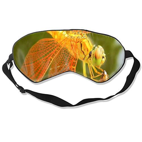 Eye Mask Dragonfly Orange Customized Eyeshade Sleep Mask Soft for Sleeping Travel for -