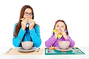 Placemat - 'Let's Eat Together' Mealtime Activity Placemat - children learn table manners and fun play at the table (3yrs+) - a parenting solution - wipe clean - 420mm x 297mm