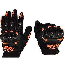 CAVALIER BURST KTM Riding Gloves (Orange Black, Large)