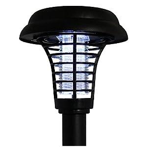 New Solar Power UV Garden Lawn LED Light Lamp Pest Bug Zapper Insect Mosquito Killer