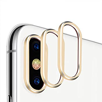 Casetego iPhone Xs MAX/XS Camera Lens Protector, [3 Pack] Aluminum Alloy Lens Protective Ring Circle Metal Camera Lens Protector for Apple iPhone Xs MAX/XS ...
