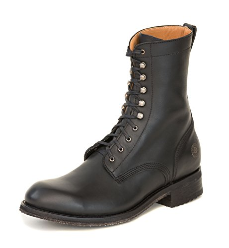 Men's Field Boot Lace-up Military Boot with Goodyear Welt (10) 1.5' Platform Boots
