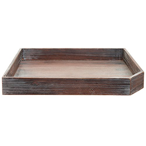 Coffee Table Tray Ebay: Vintage Distressed Brown Wood Breakfast Coffee Table Tray