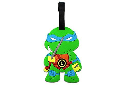 Teenage Mutant Ninja Turtles Luggage Tag Baggage Tags Id Name Card Suitcase Travel Tag (Blue - Leonardo) Turtle Tag