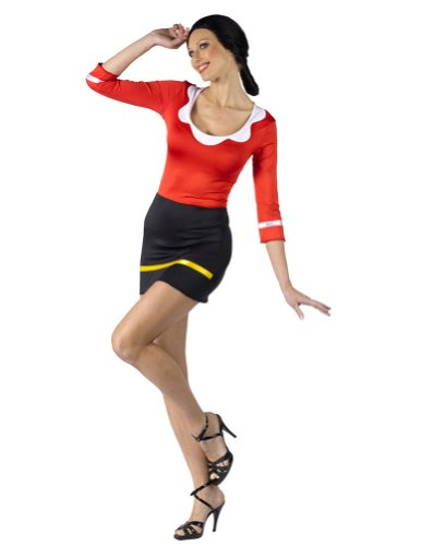 Olive Oyl Costume - Small/Medium - Dress Size 2-8 (Popeye & Olive Oyl Costumes)