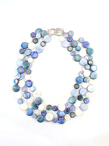 - The Island Pearl Blue Mother of Pearl Necklace