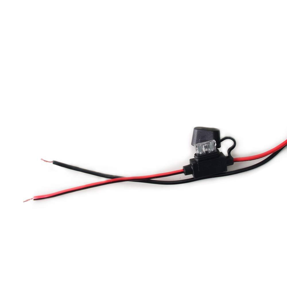 24V Spina maschio per accendisigari Premuim maschio a adattatore per prolunga terminale occhiello cavo grezzo 15FT 15A Cavo di alimentazione per auto ad alta resistenza Cavo CC Cavo per 12V