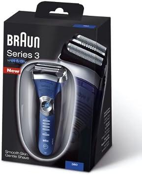 Braun Serie 3 380-3 - Máquina de afeitar eléctrica recargable en húmedo y seco macho: Amazon.es: Salud y cuidado personal