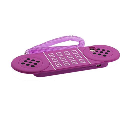 iPhone 7 Plus Coque, [ TPU Material Flexible ] Case Housse Étui pour iPhone 7 Plus 5.5 pouces pourpre téléphone, Dust Slip Resistant et Bouchon anti-poussiè