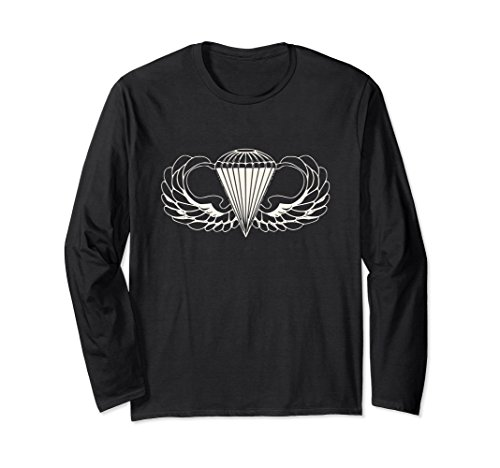 Unisex US Army Parachute wings badge airborne long sleeve 2XL - Wings Army Parachute