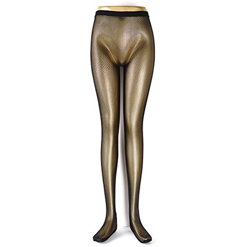 Professional Dance nero carne Brown nude Fishnet tight calze per donna, nero, taglia L