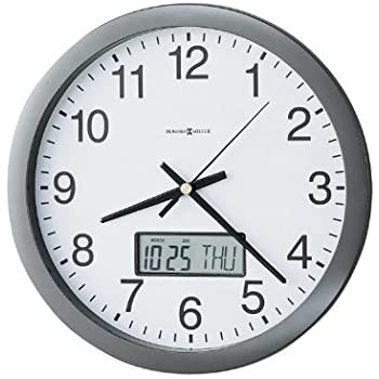 Amazon Com Howard Miller 174 Chronicle Wall Clock With Lcd