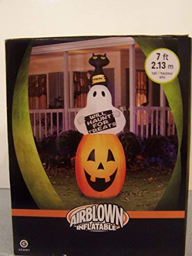 New Gemmy Outdoor Inflatable Halloween Air Blown Yard Decoration Ghost -