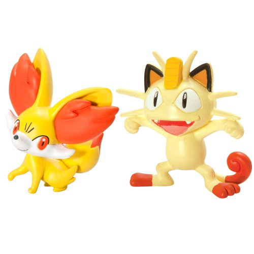 Pokémon 2 Pack Small Figures Fennekin vs Meowth (Holo 2 Costumes)