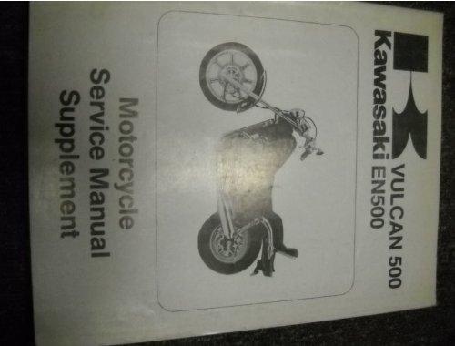 1990 Kawasaki Vulcan 500 EN500 Service Shop Manual OEM (Kawasaki En500 Manual)
