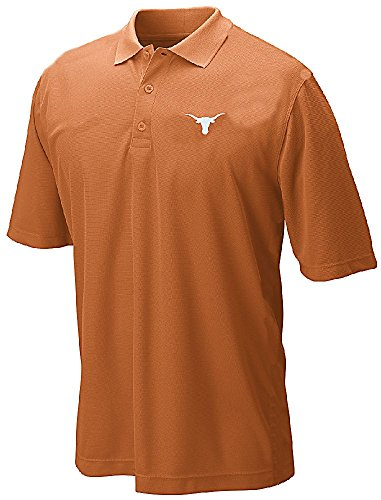 Texas Longhorns Mens Silhouette Poly Synthetic Polo Shirt-Silhouette-Texas Orange-Large