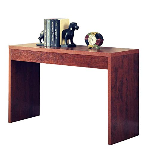 (Hallway Console Table Narrow Entryway Foyer Accent Entry Console Home Sleek Furniture Transitional Style and Functionality Unique Contemporary Design Cherry Wood Grain Finish & eBook by BADA Shop)