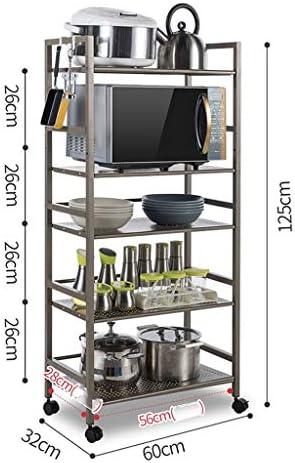 5 Strati cremagliera Cucina cremagliera Forno a microonde Ciotola pentola Stare Carrello, (125x60x32cm) Lostgaming