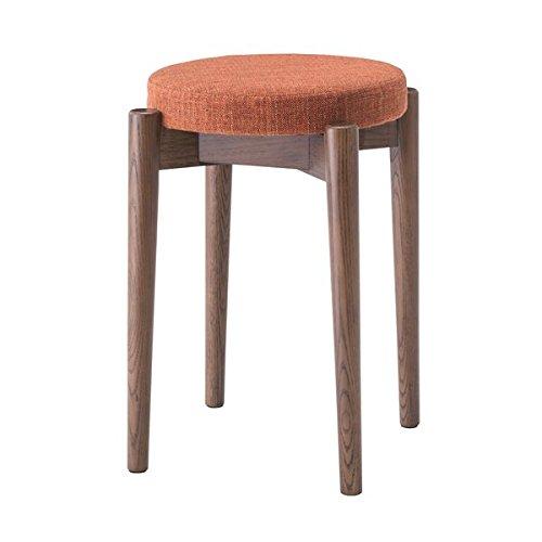 シンプルスタッキングスツール 円形椅子 【ブラウン】 積み重ね可 クッション付き 〔来客時 法事 イベント 什器〕 B0778T1RYG ブラウン ブラウン