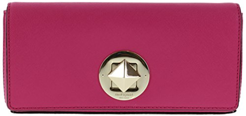 Kate Spade Newbury Lane Keira Saffiano Leather Clutch Handbag (Sweetheart Pink) by Kate Spade New York