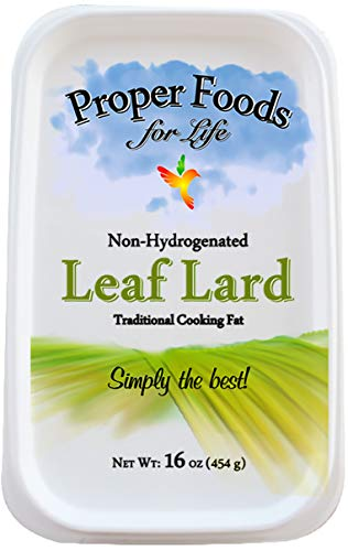 Proper Food's - 100% Pure Leaf Lard - Non-Hydrogenated - for Cooking, Baking and Frying - 16 oz