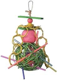 Super Bird Creations 12 by 6-Inch X-mas Hanging Mega Munch Ball Bird Toy, Medium
