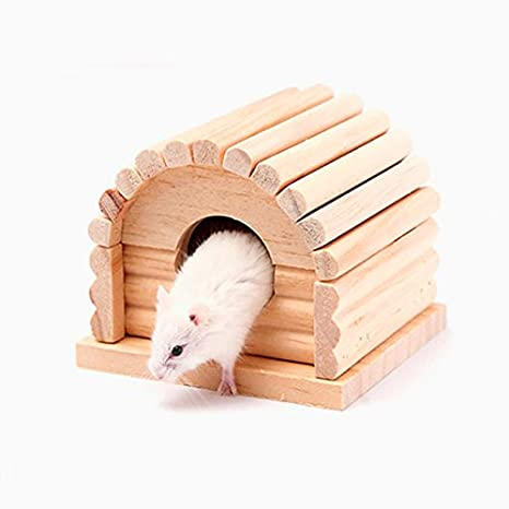 Pet Online Hamster nest casa de madera casa juguetes accesorios de ...