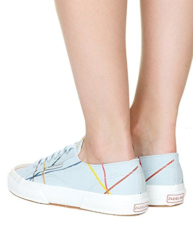Superga Women's Fanlinu Zazie Woman's Light Blue Sneakers In Size 37 Multicolour