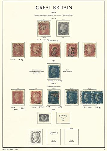 Great Britain Stamp Collection on Lighthouse Page 1856-62, 18//33, SCV $240