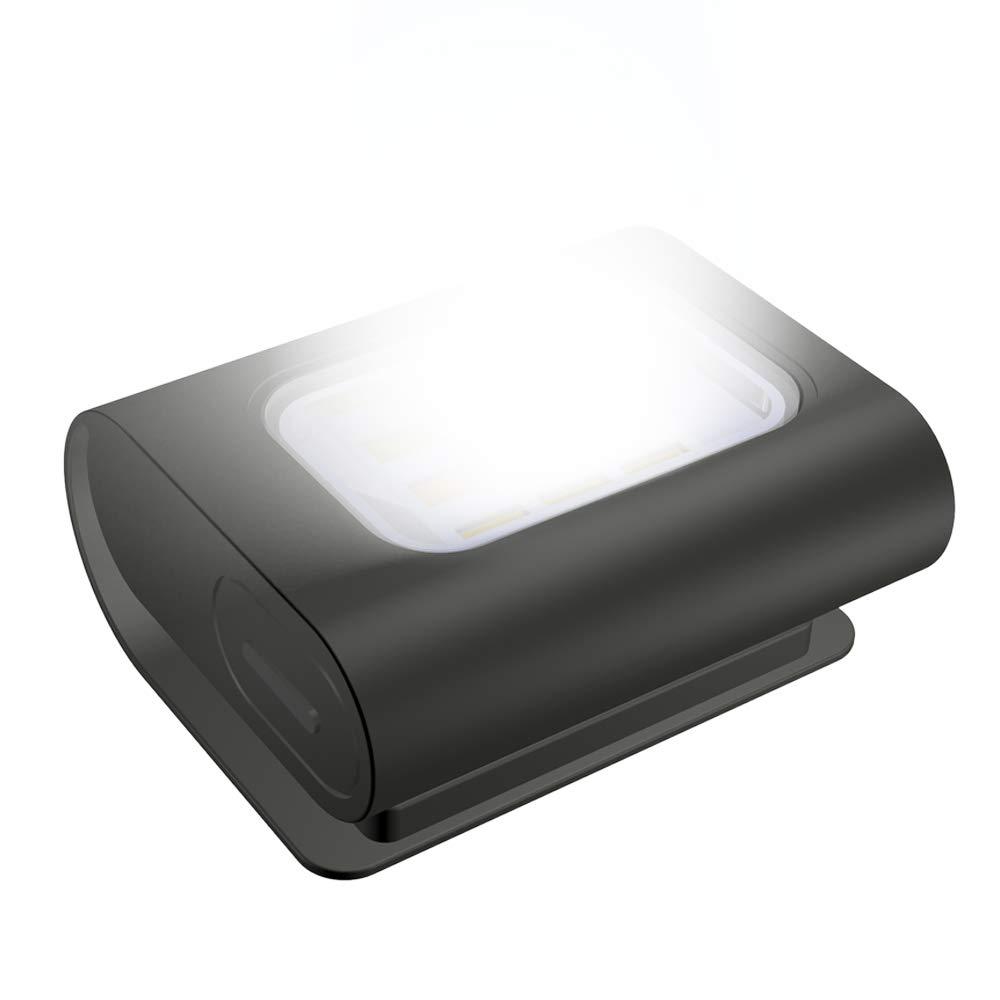 Luce di Sicurezza LED Running Light Ricaricabile USB Magnetica Impermeabile Lampada da Testa Petto con 4 Modalit/à di Illuminazione per Sport Allaperto Jogging Camminare Campeggio Pesca Lettura Corsa