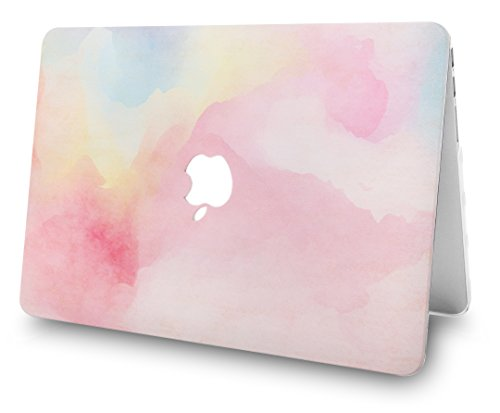 """KECC Laptop Case for MacBook Pro 13"""" (2020) w/Keyboard Cover + Webcam Cover A2338 M1 A2289 A2251 Touch Bar 3 in 1 Bundle (Rainbow Mist)"""