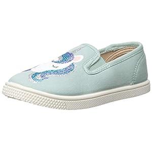 The Children's Place Girls' Slip On Sneaker, Eggshell Blue, TDDLR 9 Regular US Toddler