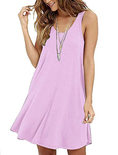 Cheryl Bull Fashion Women's Sleeveless Casual Loose Tank Summer Dress,gkdfd,Pink1]()