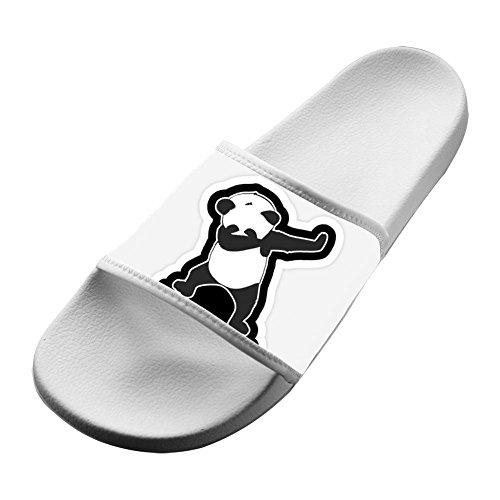 Custom Slippers Antiskid Home Couple Flip-flop Dabbing Panda Shoes Open Toe Flat Sandals Adult 12 B(M) US from LLSUSLP