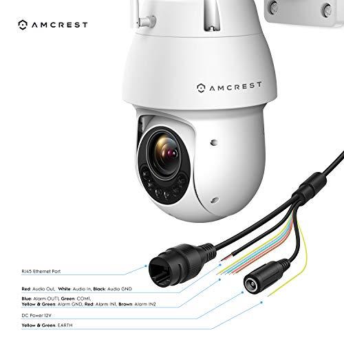Amcrest 1080P WiFi Outdoor PTZ IP Pan Tilt Security Camera Speed Dome, 328ft Night IP66 Weatherproof, 2-Megapixel,