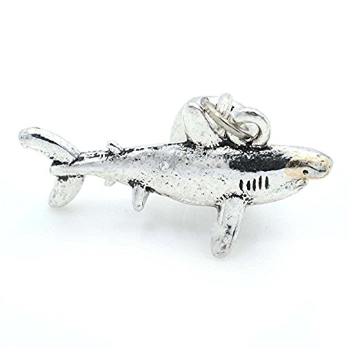 Pro Jewelry Great White Shark Dangling Bead Compatible with European Snake Chain - Kays Jewelry Memories Charmed